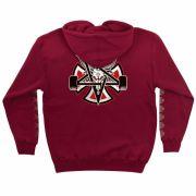 Moletom Thrasher Magazine x Independent Fechado Pentagram Cross Red