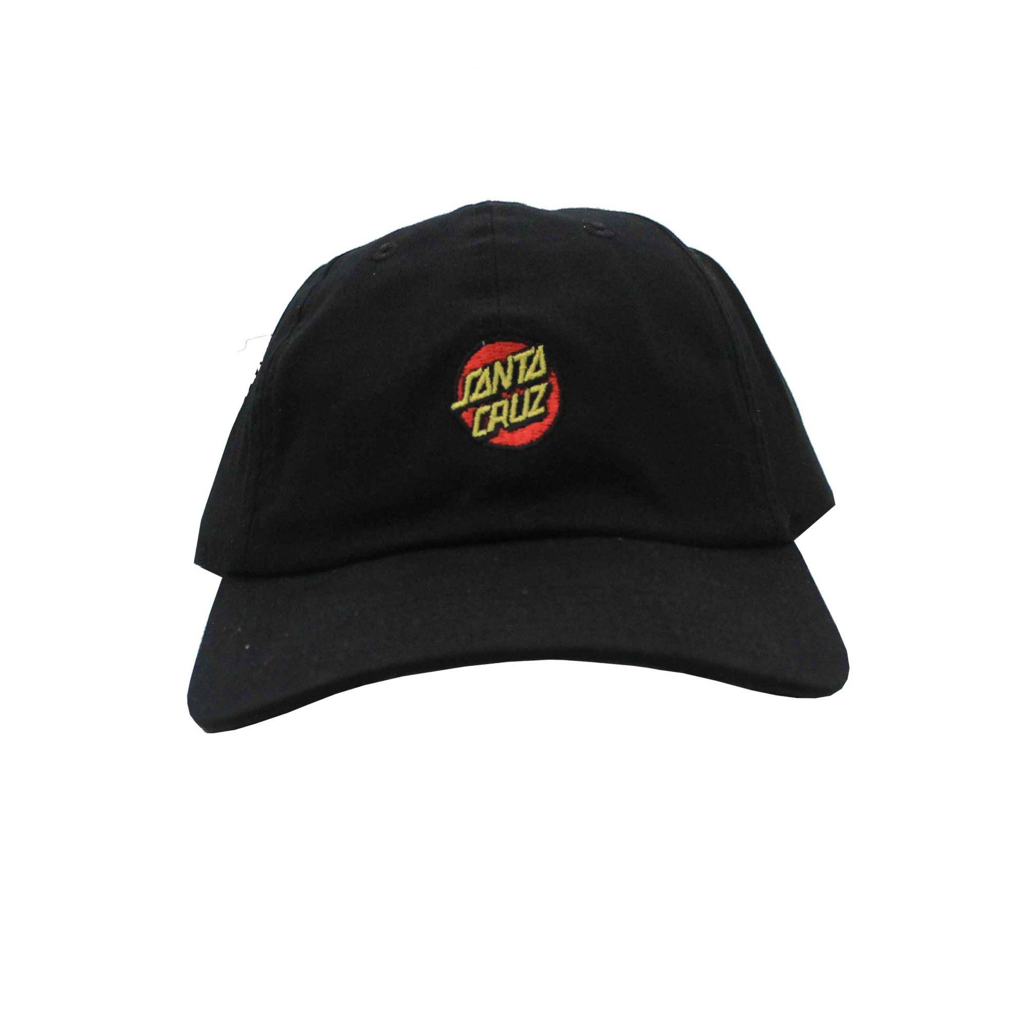 Boné Santa Cruz Dad Hat Classic Dot Black