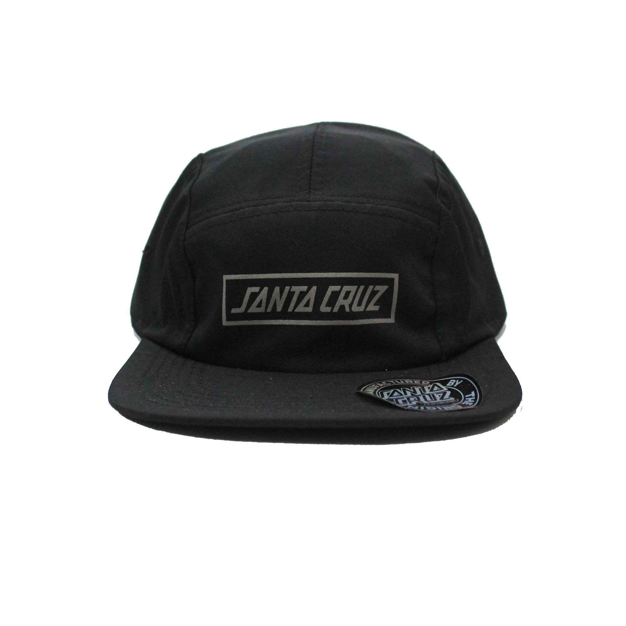 Boné Santa Cruz Five Panel Strap Logo Black