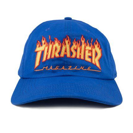 Boné Thrasher Magazine Dad Hat Flame Blue