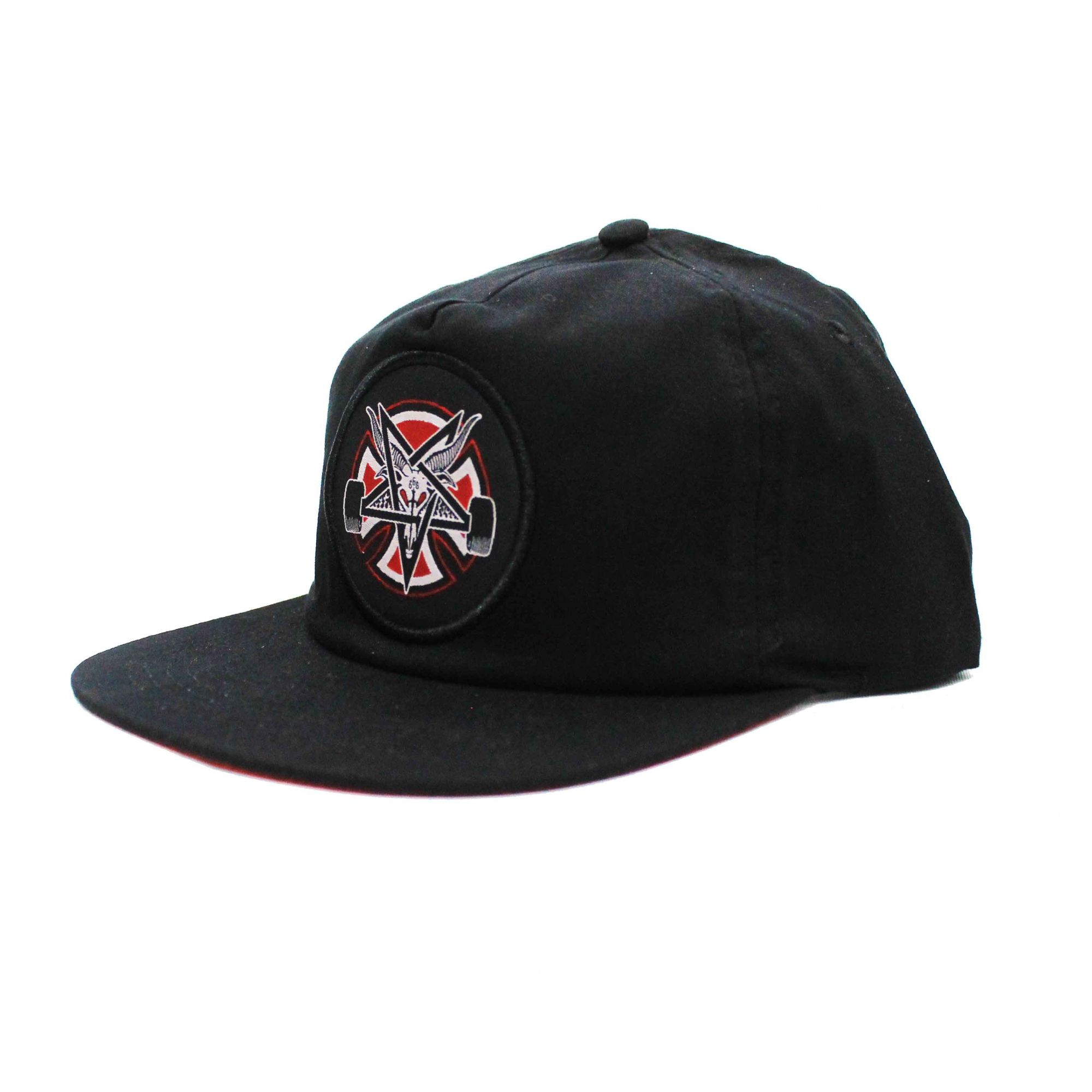 Boné Thrasher Magazine x Independent Snapback Pentagram Cross Black
