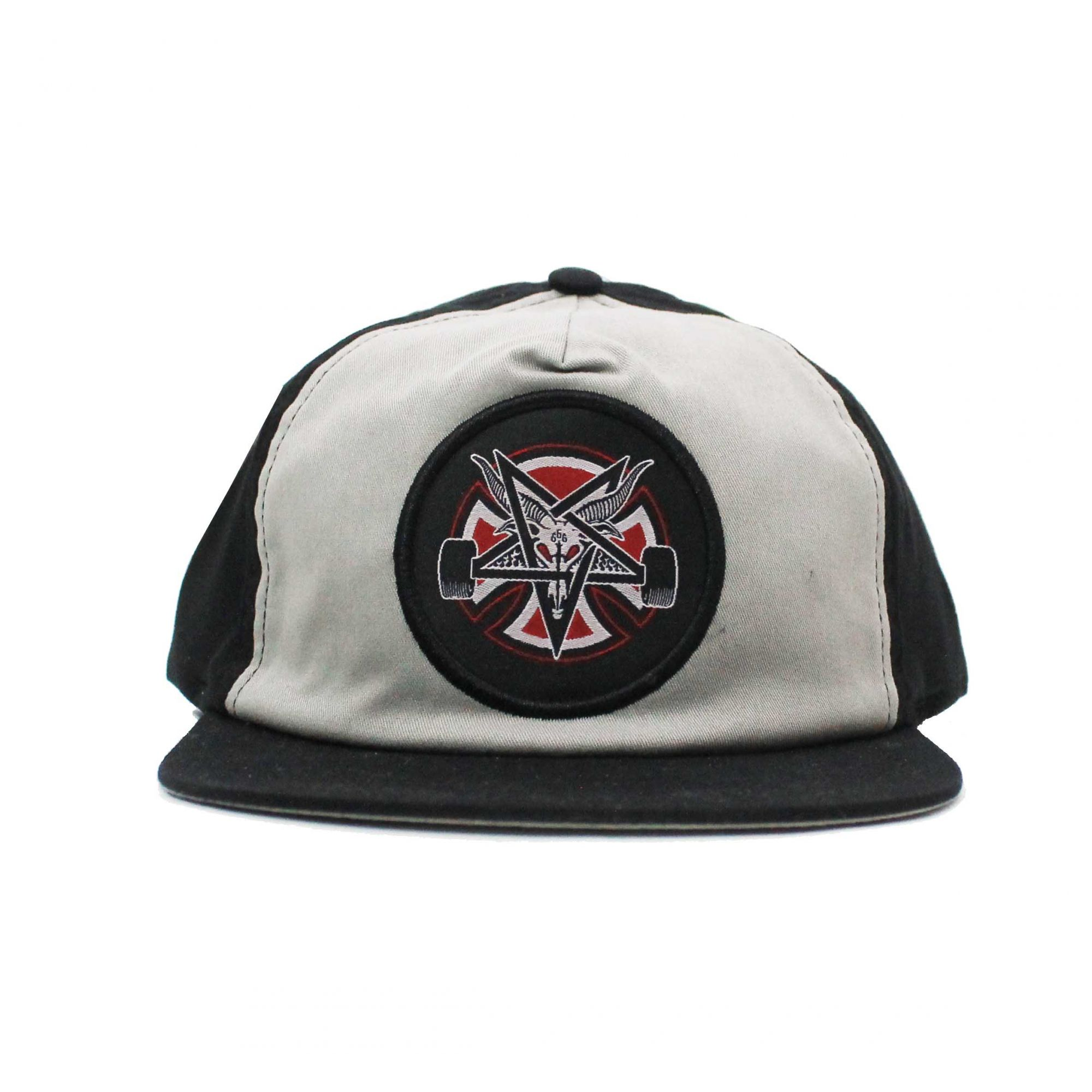 Boné Thrasher Magazine x Independent Snapback Pentagram Cross Grey