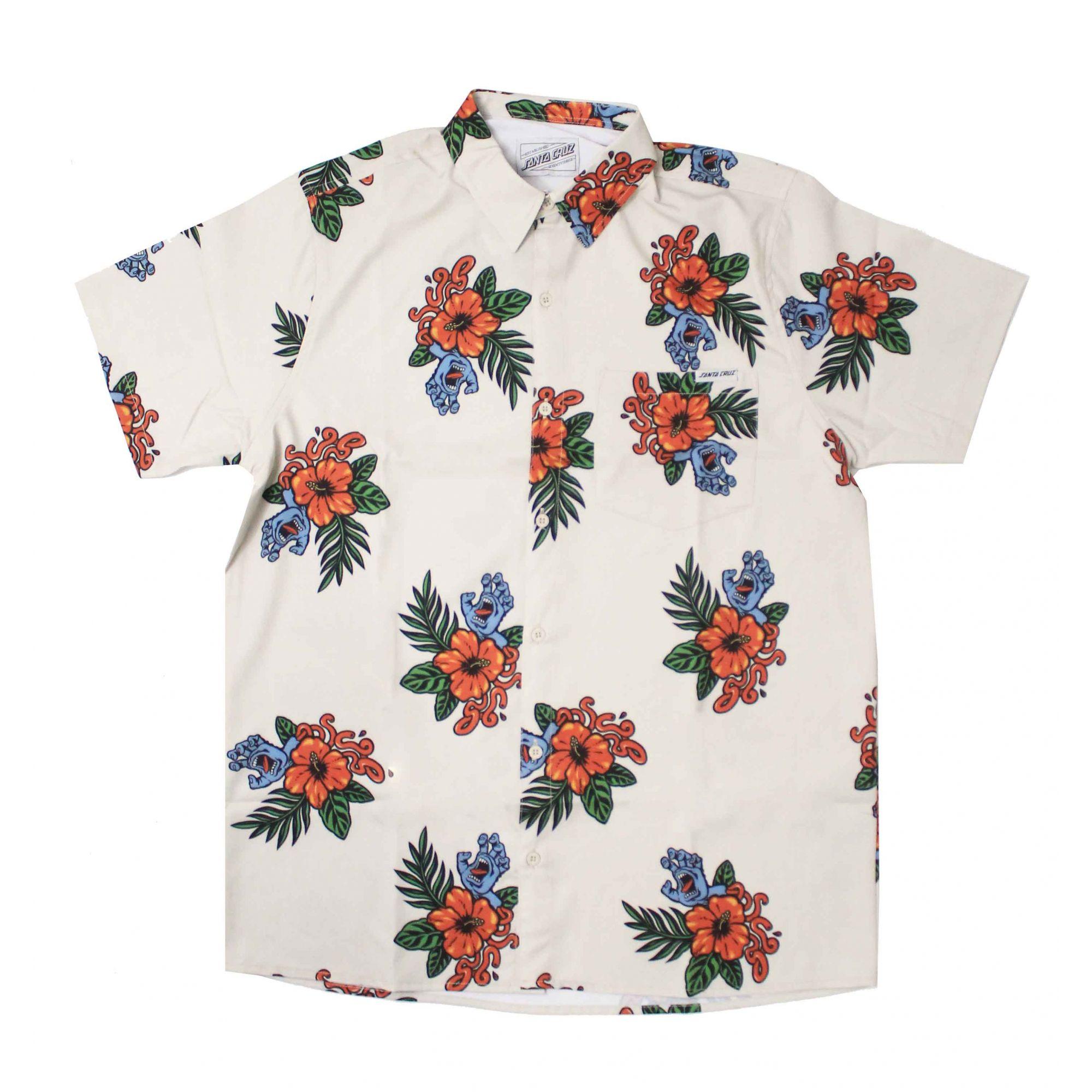 Camisa Santa Cruz Vacation Hand Pattern Areia