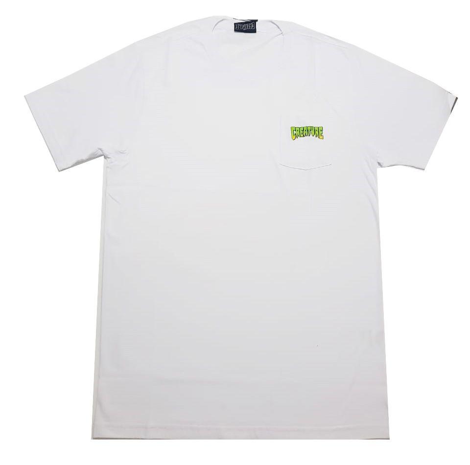 Camiseta Creature Especial Logo Pocket Branca