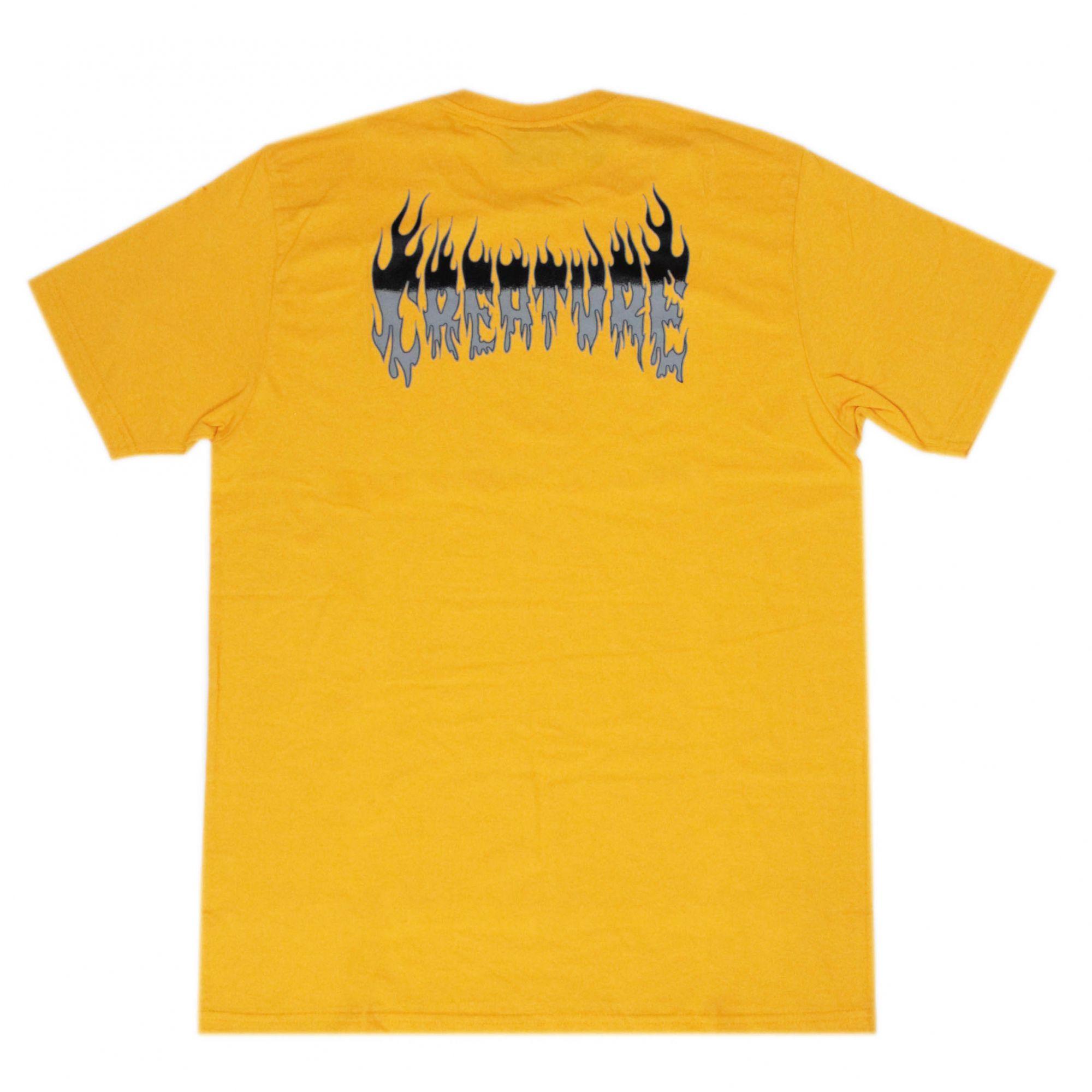 Camiseta Creature Firestarter Amarelo