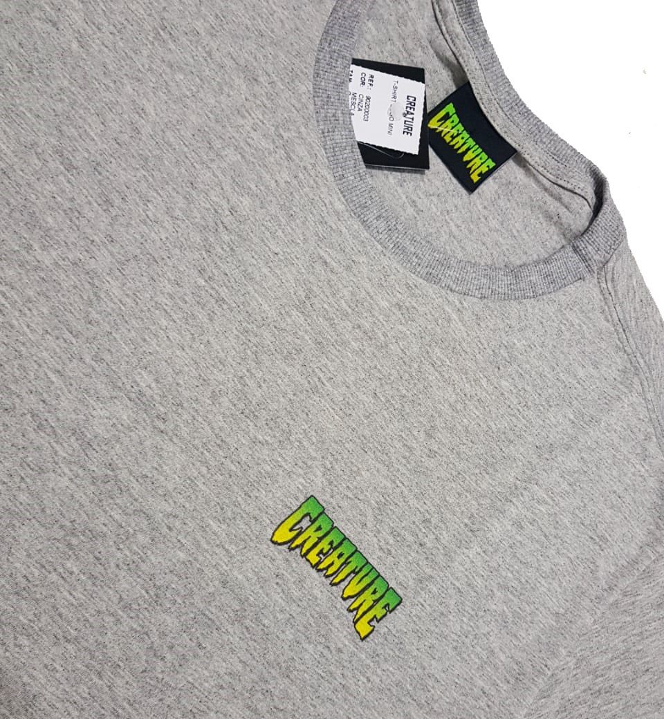 Camiseta Creature Logo Mini Grey