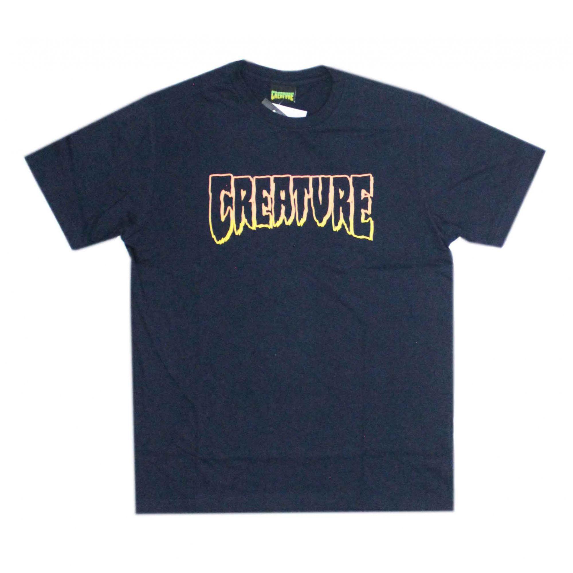 Camiseta Creature Logo Outline Azul Marinho
