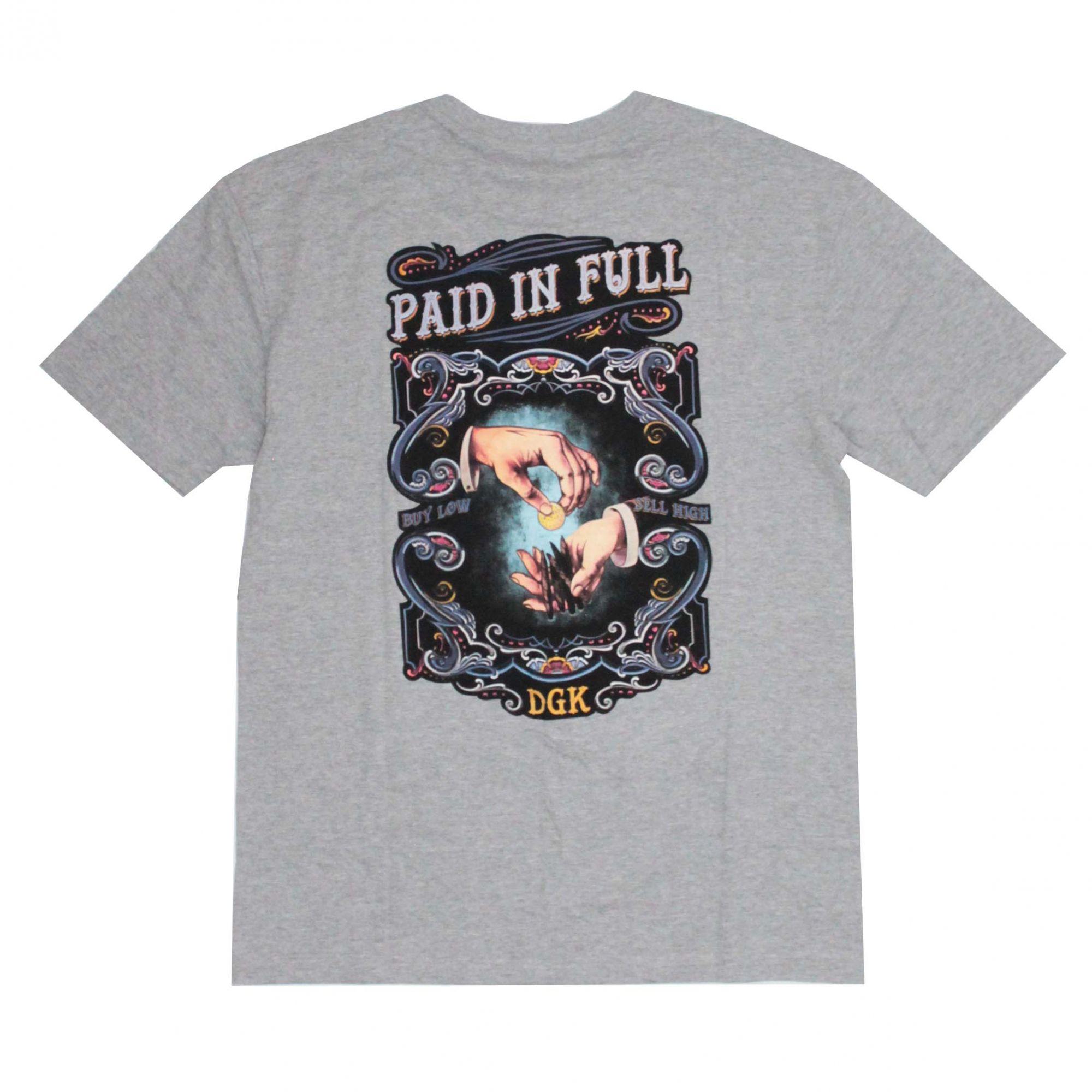 Camiseta DGK Paid And Full Cinza Mescla