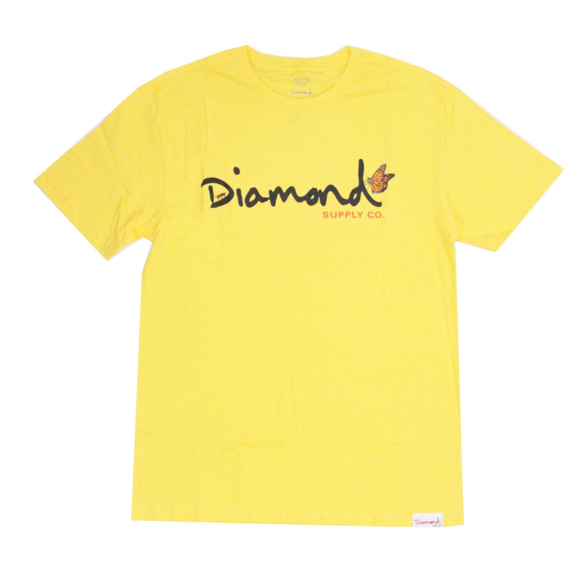 Camiseta Diamond Paradise Og Script Amarelo