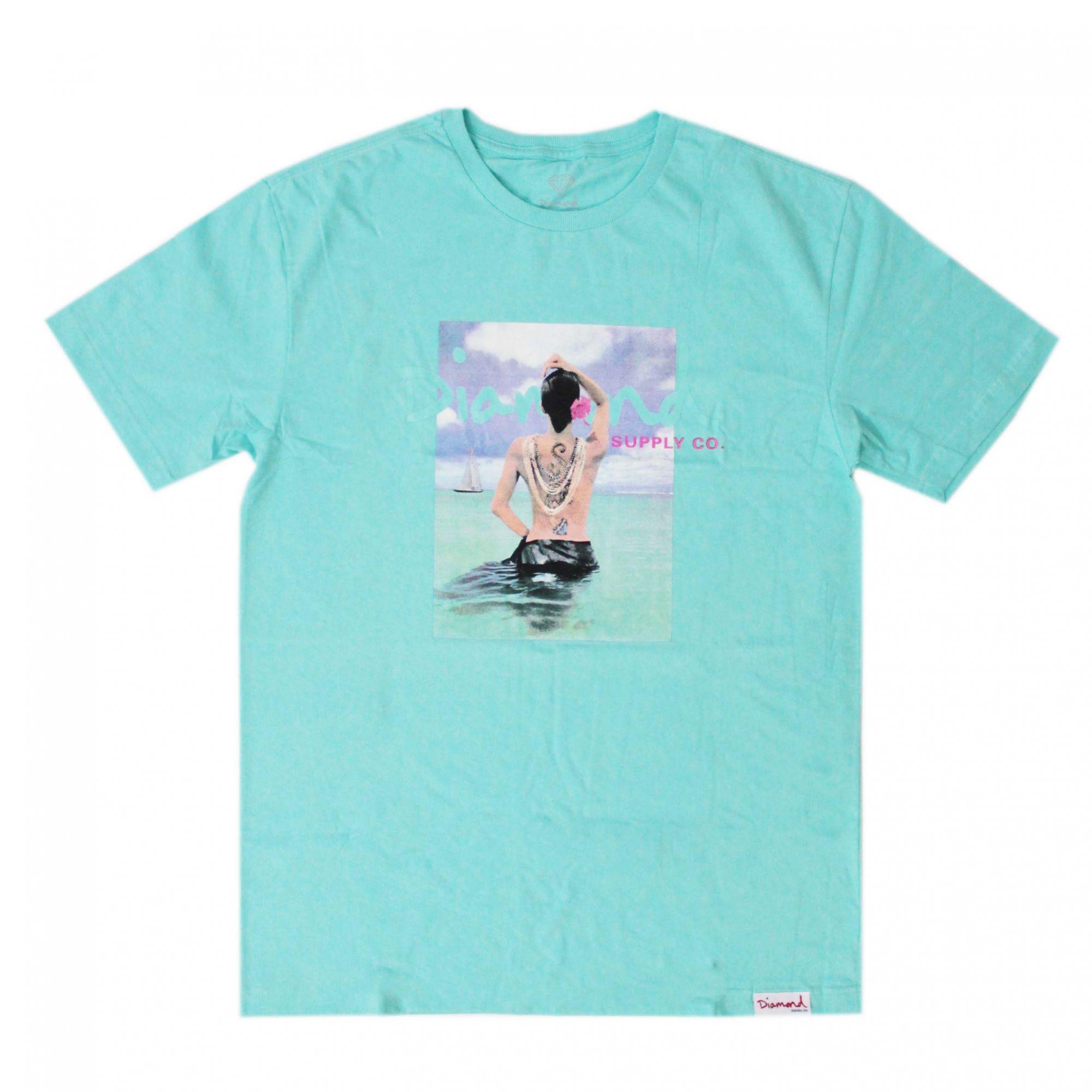 Camiseta Diamond Waist Deep Azul Bebê