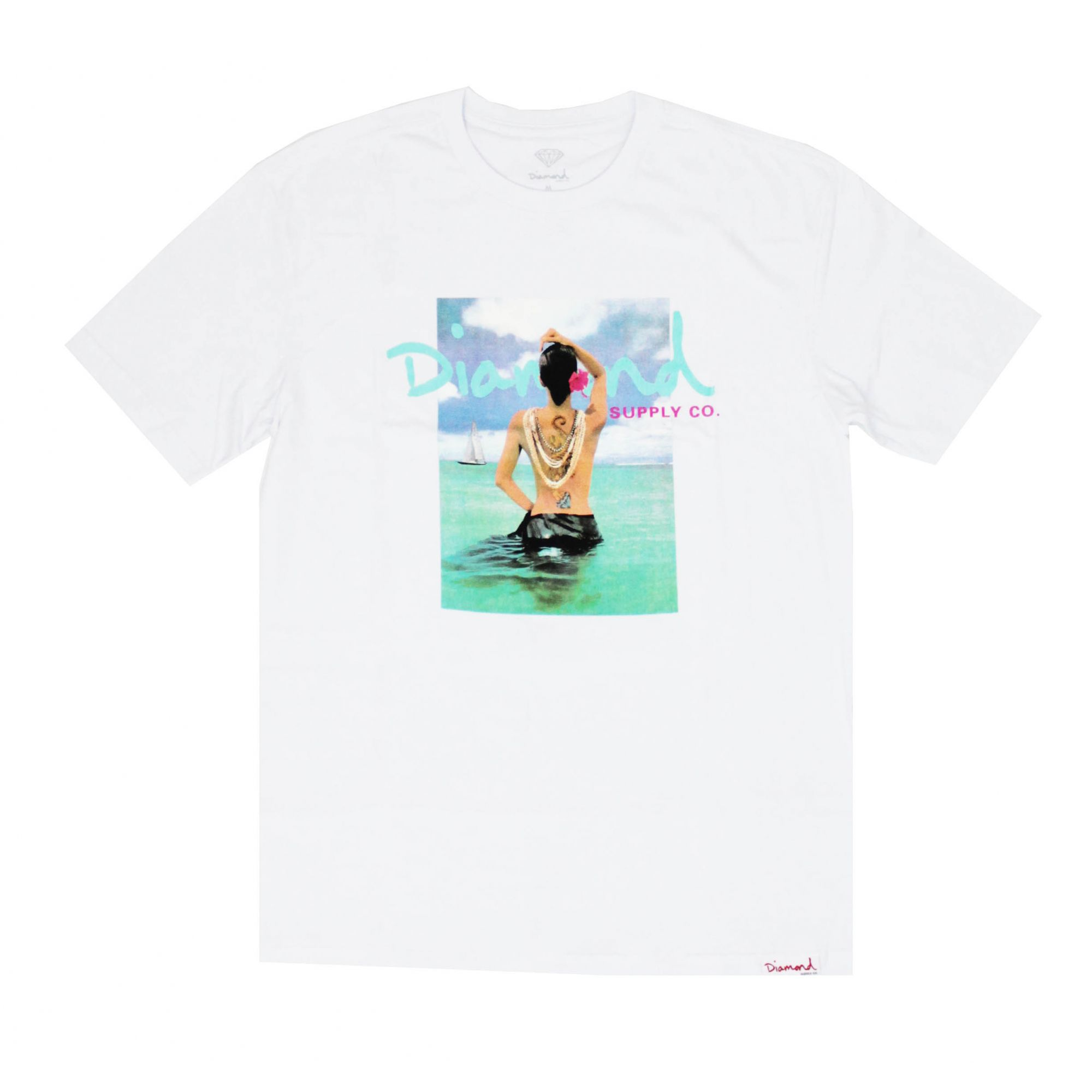 Camiseta Diamond Waist Deep Branco