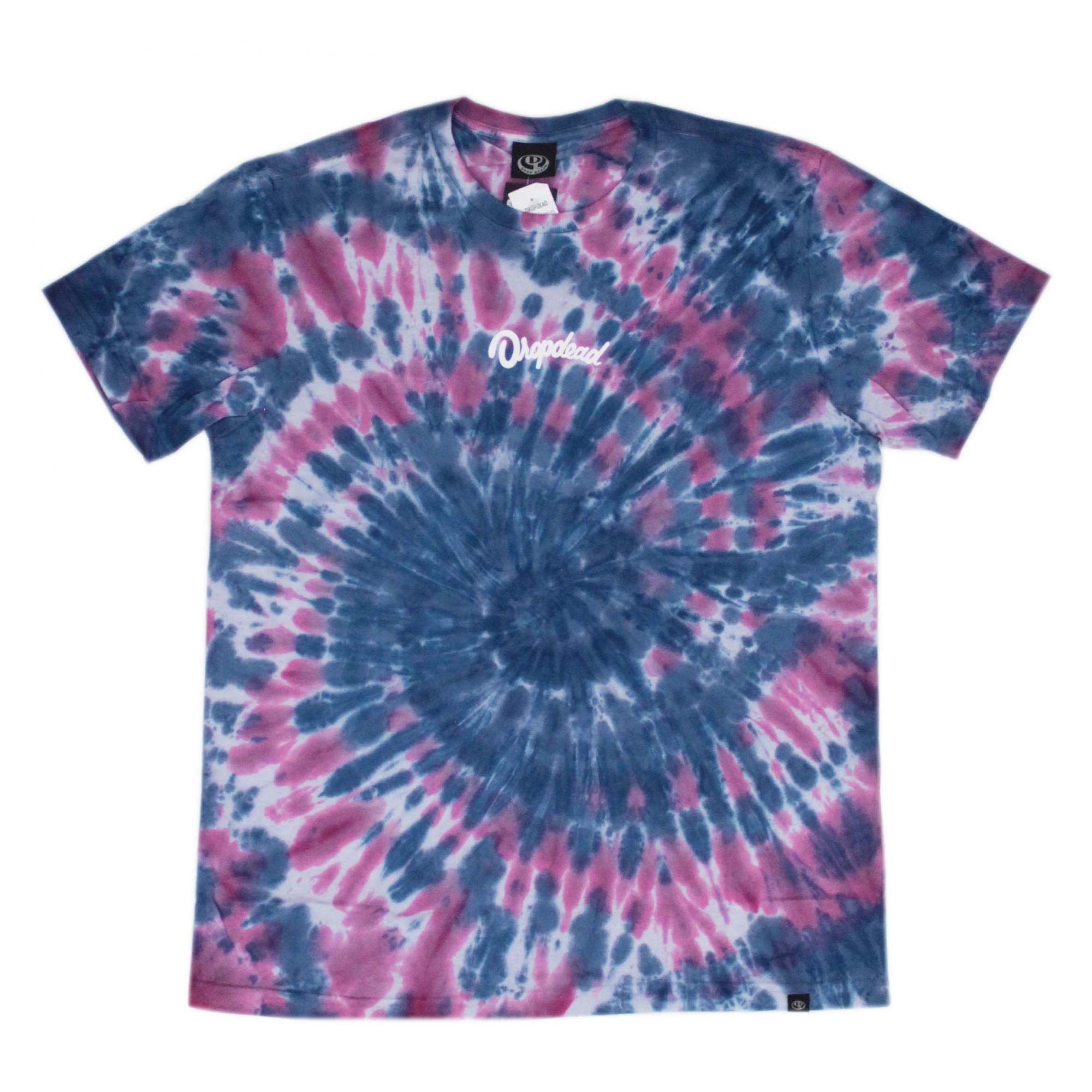 Camiseta Drop Dead Acid Dye Roxo/Azul