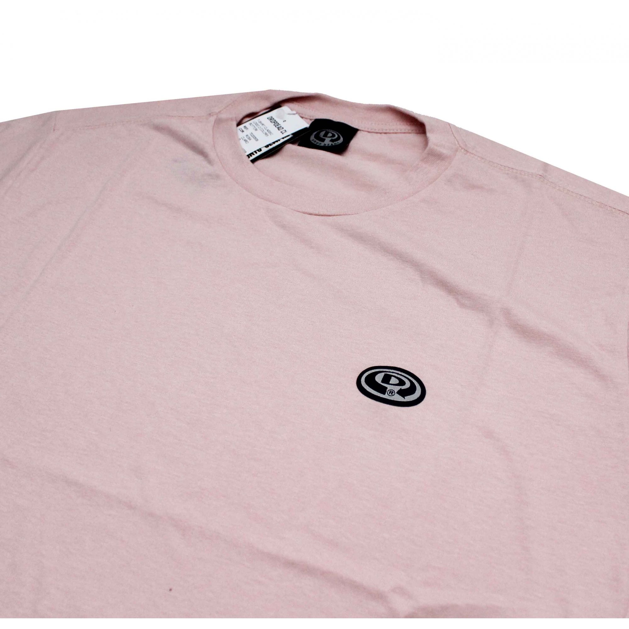 Camiseta Drop Dead Logo 2 Colors Bottom Pink