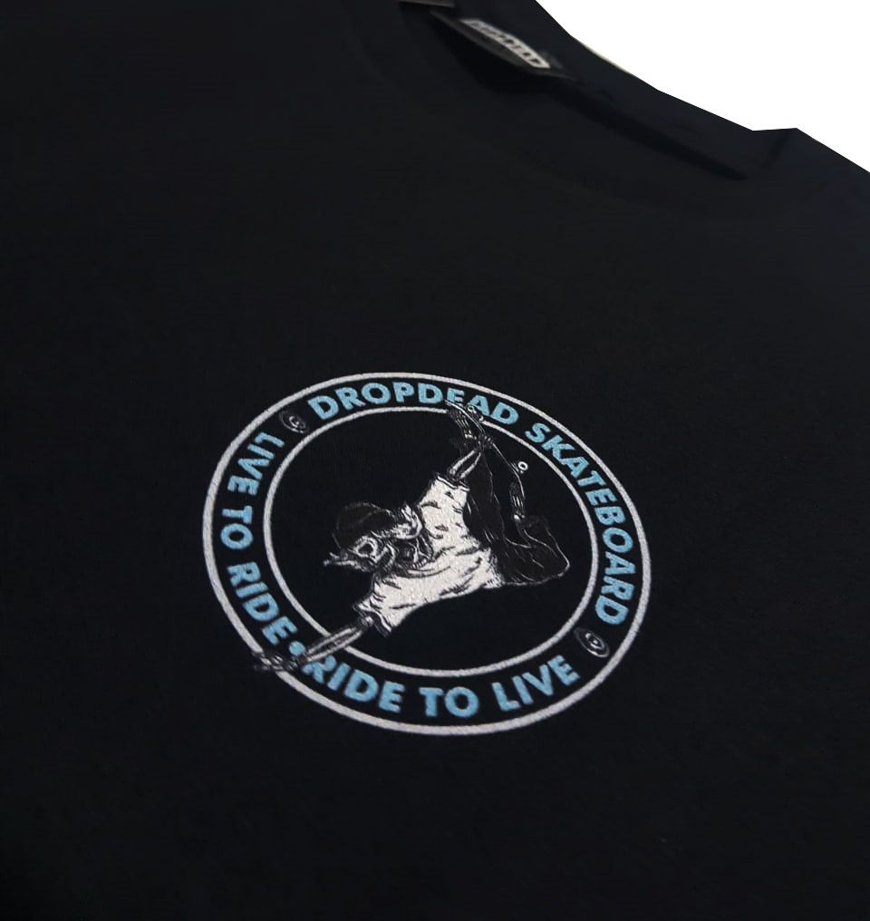 Camiseta Drop Dead Ride To Live Black