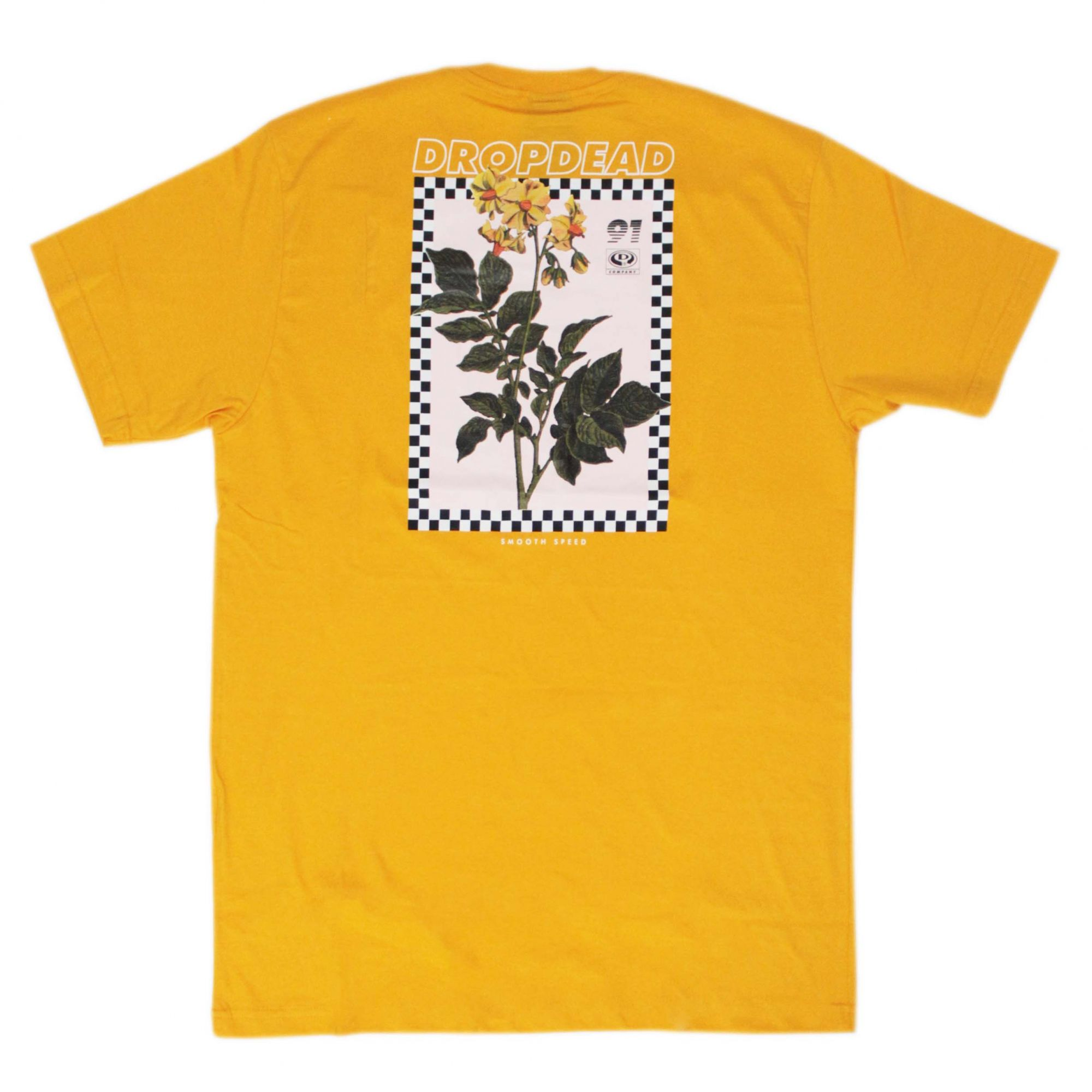 Camiseta Drop Dead Smooth Speed Amarelo