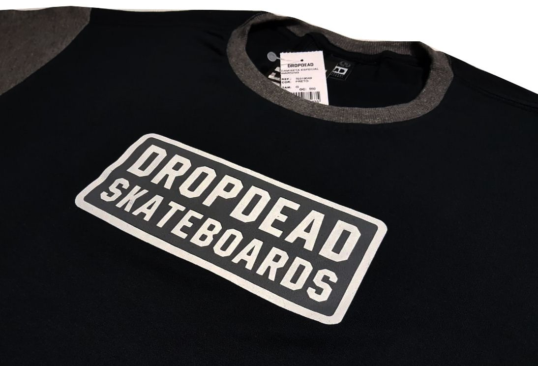 Camiseta Drop Dead Warning Black