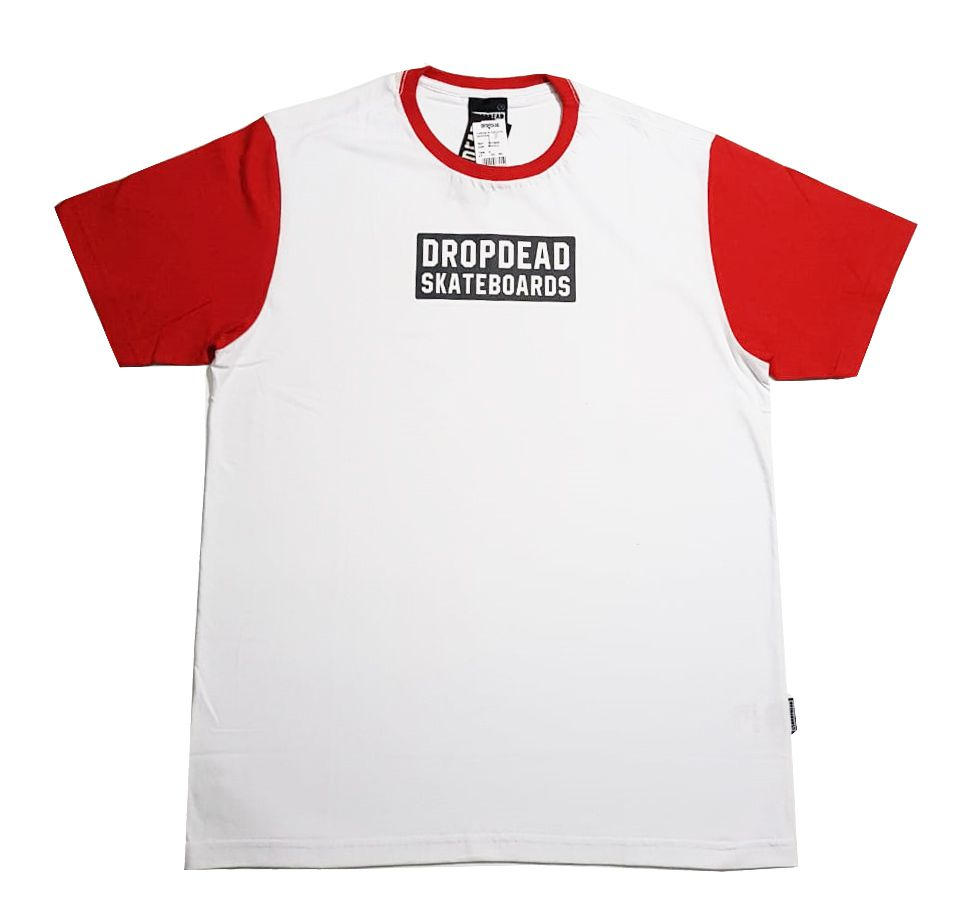 Camiseta Drop Dead Warning White/Red