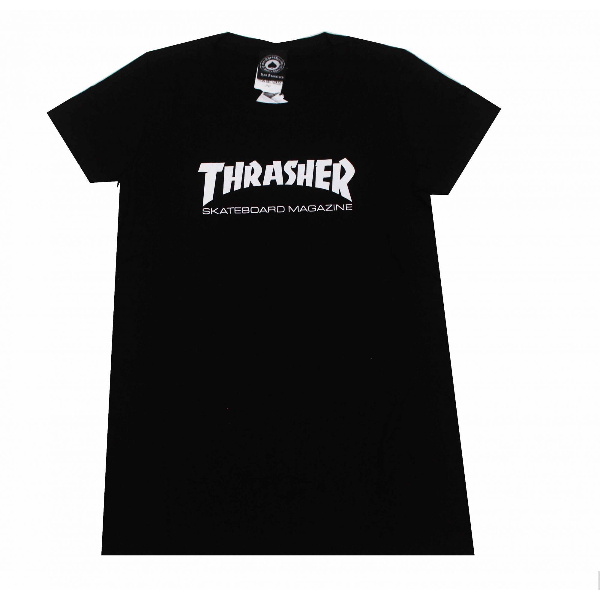 Camiseta Feminina Thrasher Magazine Skate Mag Black