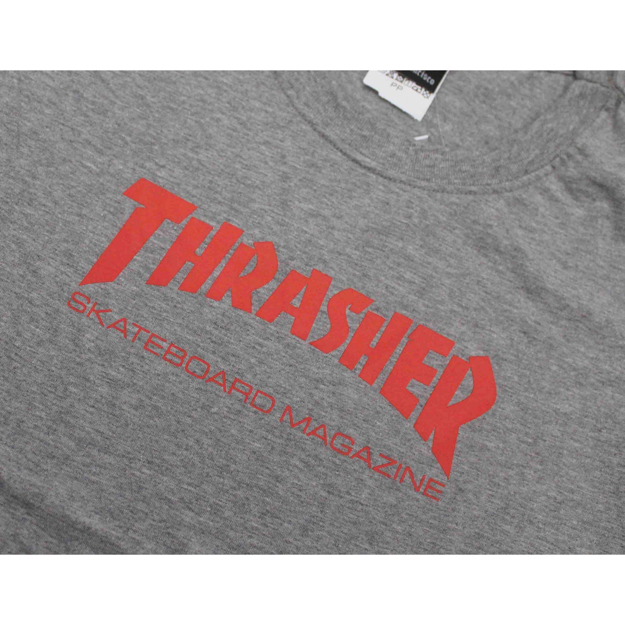 Camiseta Feminina Thrasher Magazine Skate Mag Grey