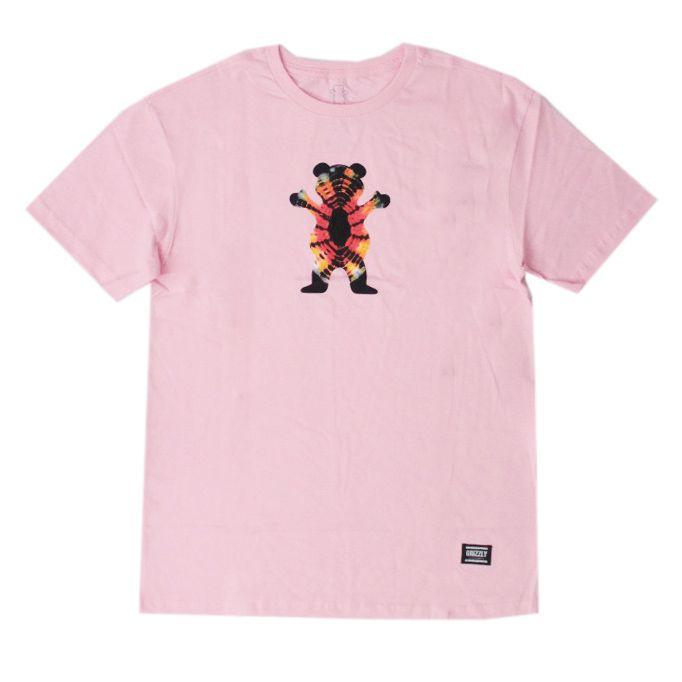 Camiseta Grizzly Og Bear Tie Dye Rosa