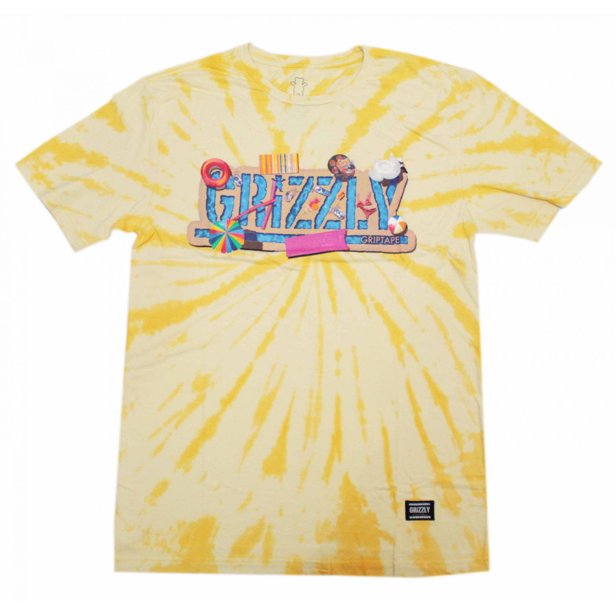 Camiseta Grizzly Pool Party Tie Dye Amarelo