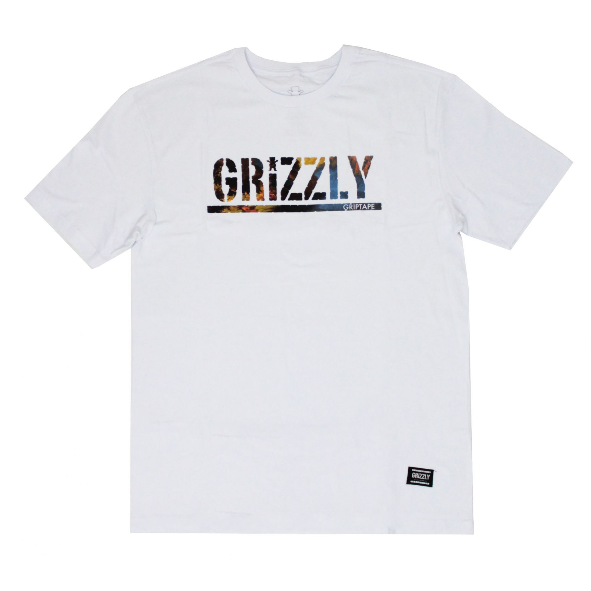 Camiseta Grizzly Stamped Scenic Branco