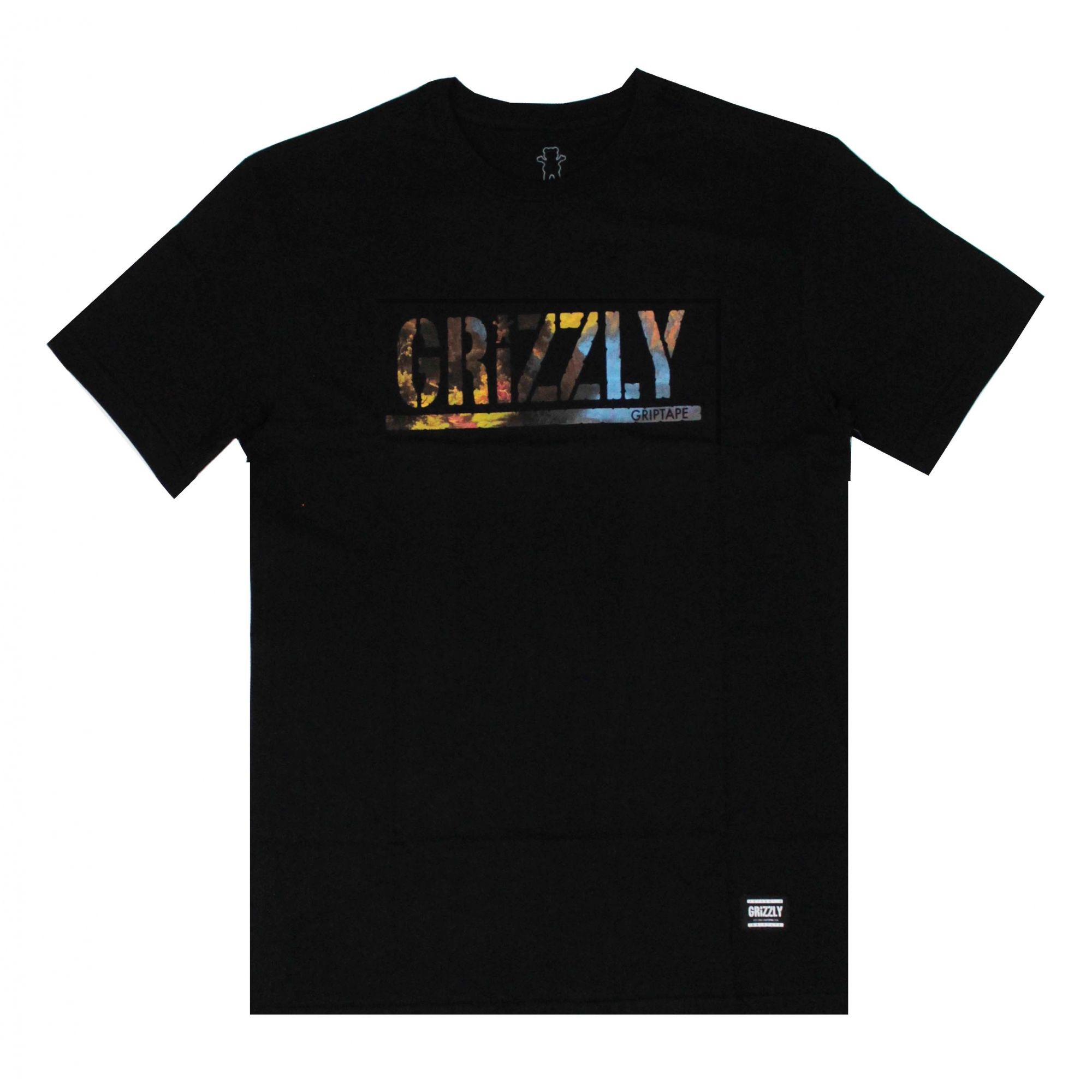Camiseta Grizzly Stamped Scenic Preto