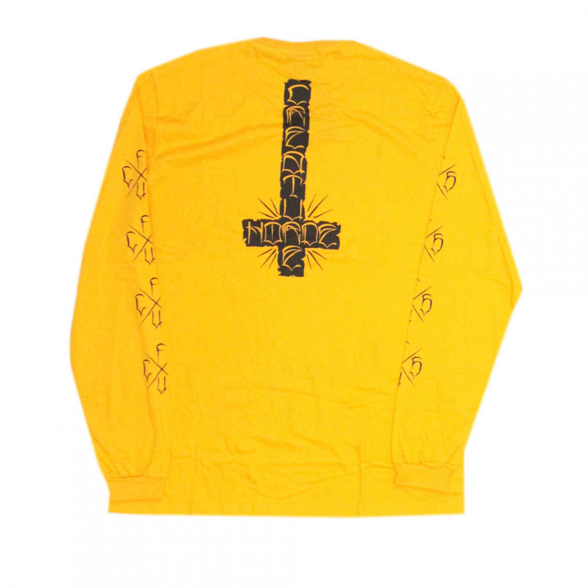 Camiseta Manga Longa Creature Horde Cross Amarela