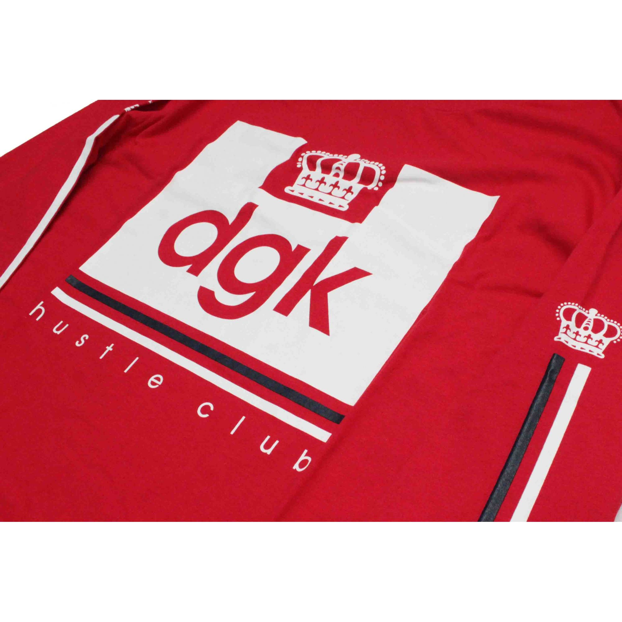 Camiseta Manga Longa DGK Hustle Club Red