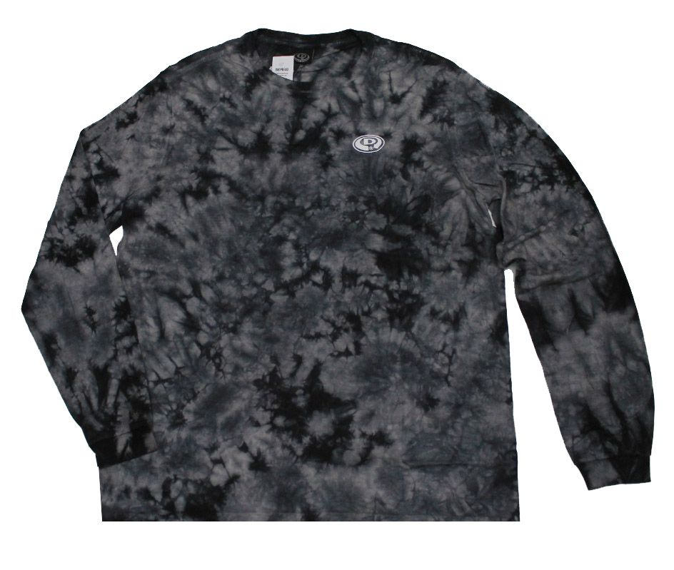 Camiseta Manga Longa Drop Dead World Tie Dye Black