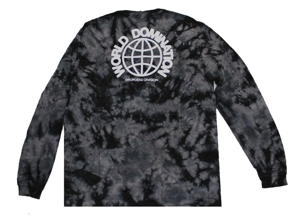 Camiseta Manga Longa Drop Dead World Tie Dye Black