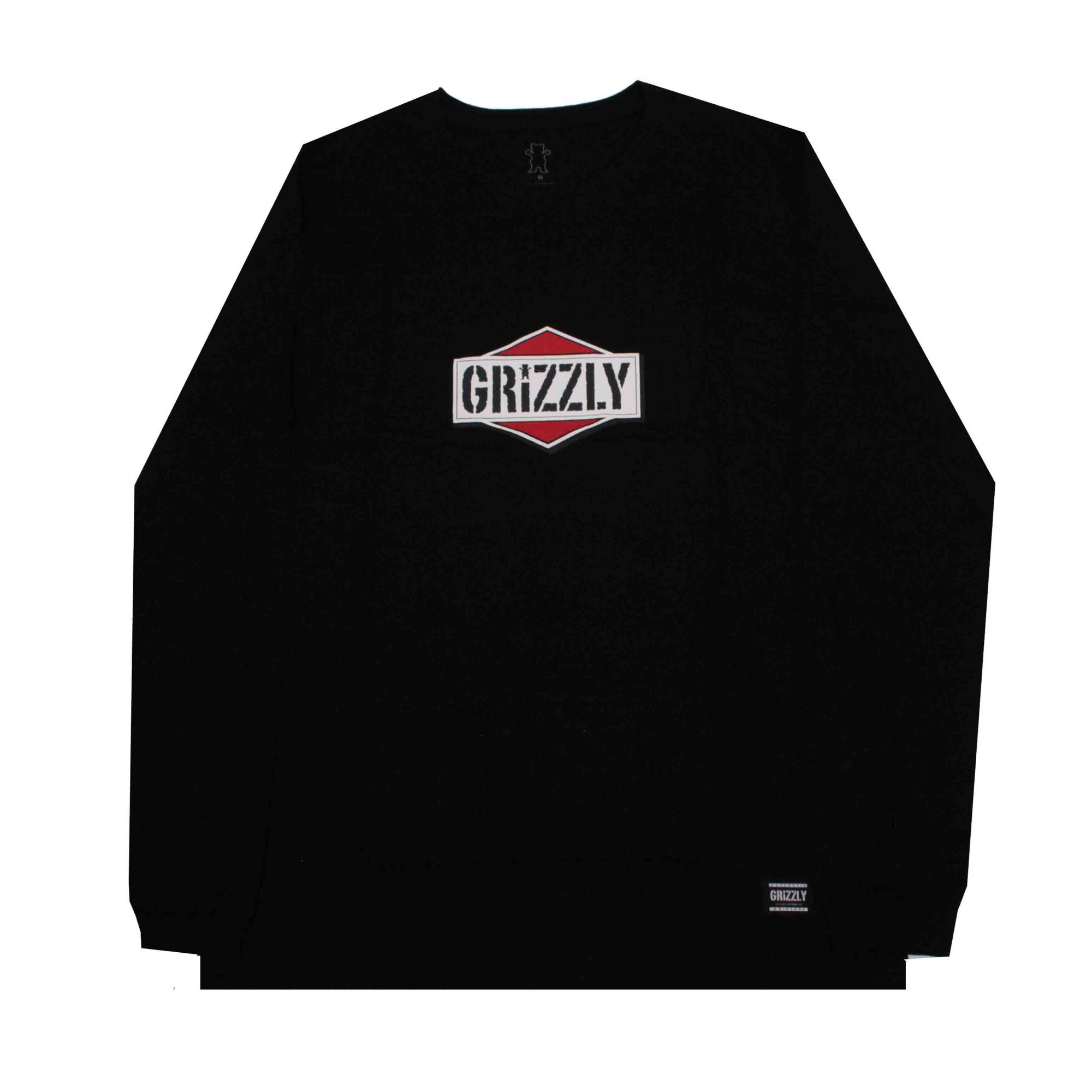 Camiseta Manga Longa Grizzly Family Og Grizz Black