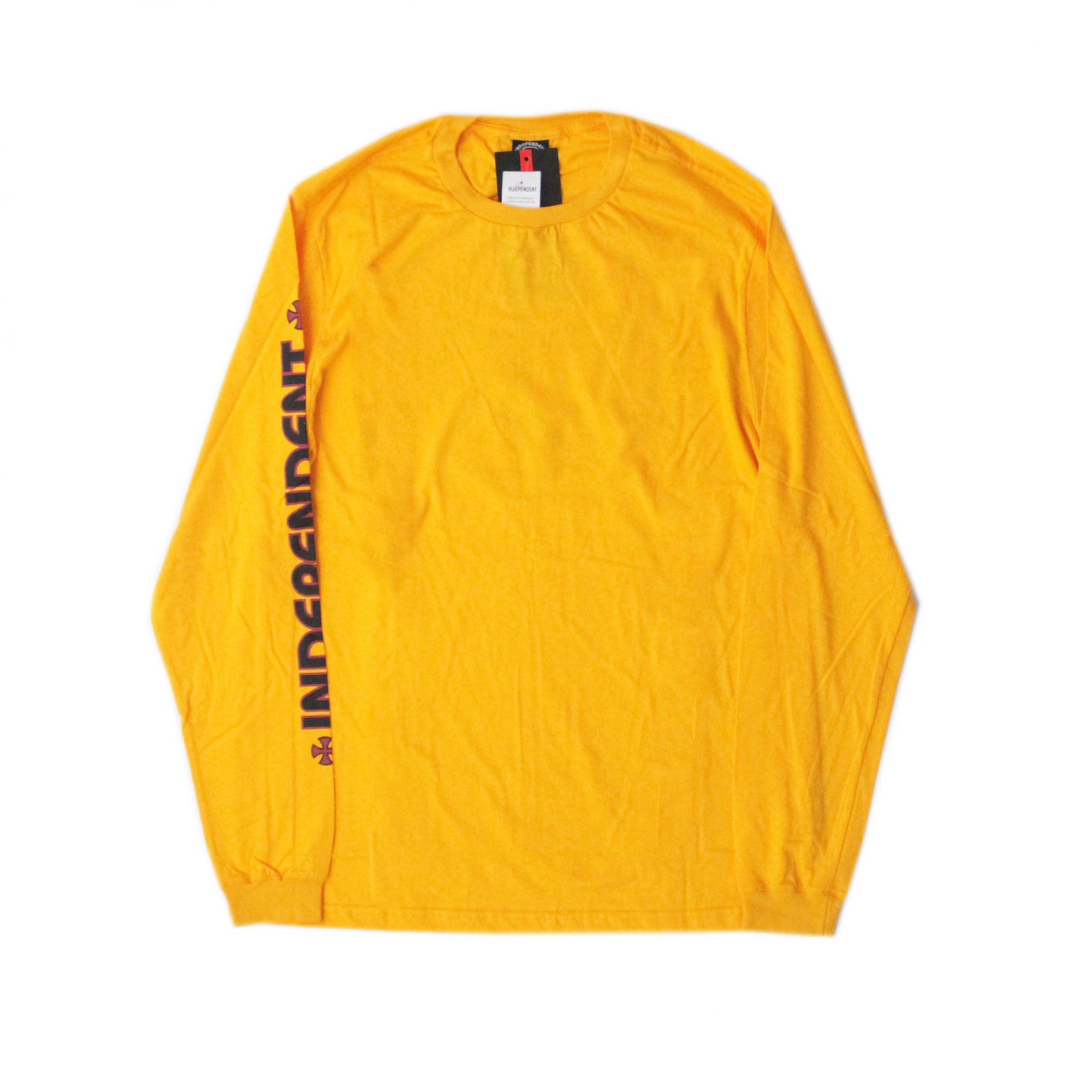 Camiseta Manga Longa Independent Bar Cross Amarelo