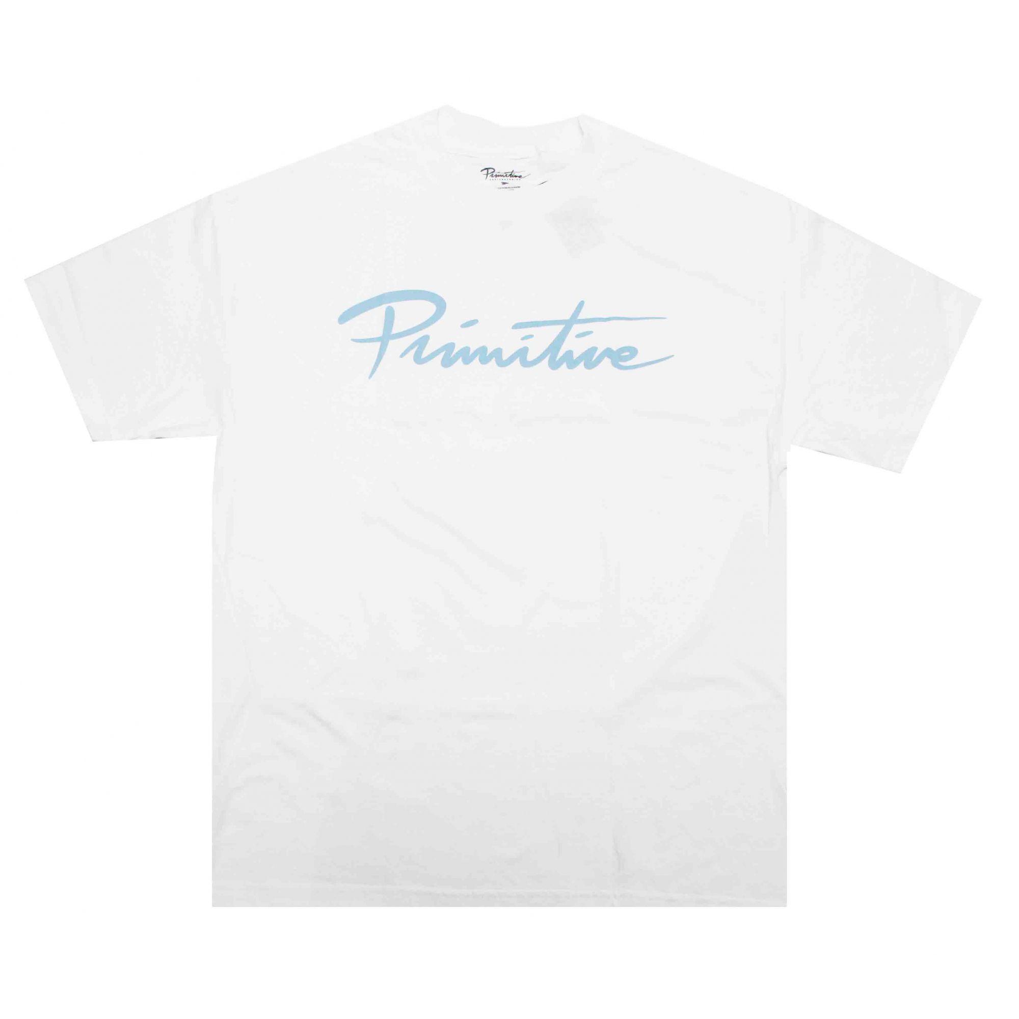 Camiseta Primitive Nuevo Script Core Tee Branco/Azul