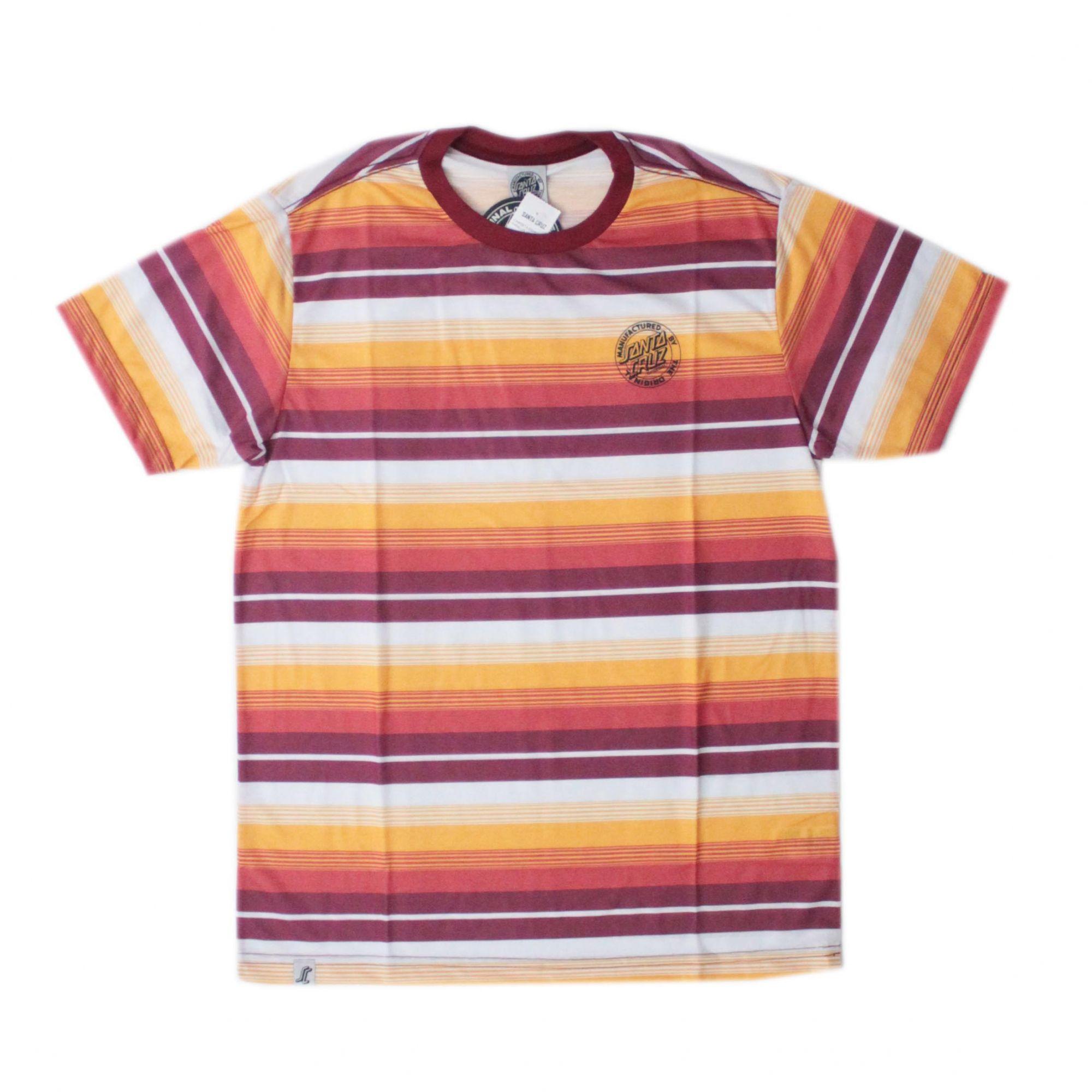 Camiseta Santa Cruz Parallel Stripe Bordo