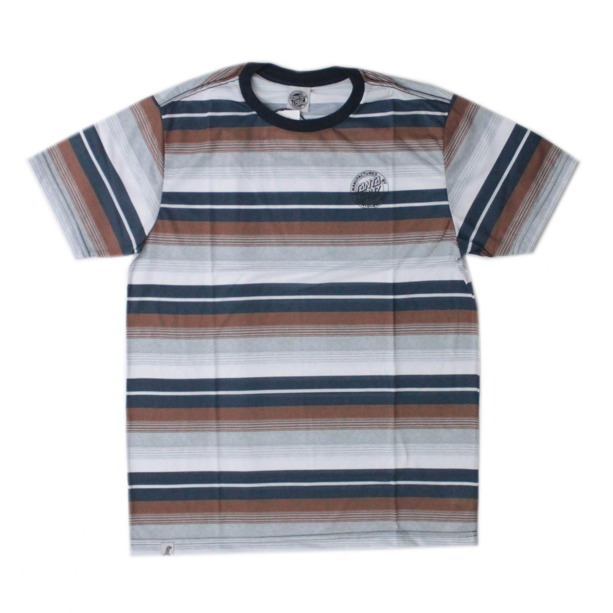 Camiseta Santa Cruz Parallel Stripe Marinho