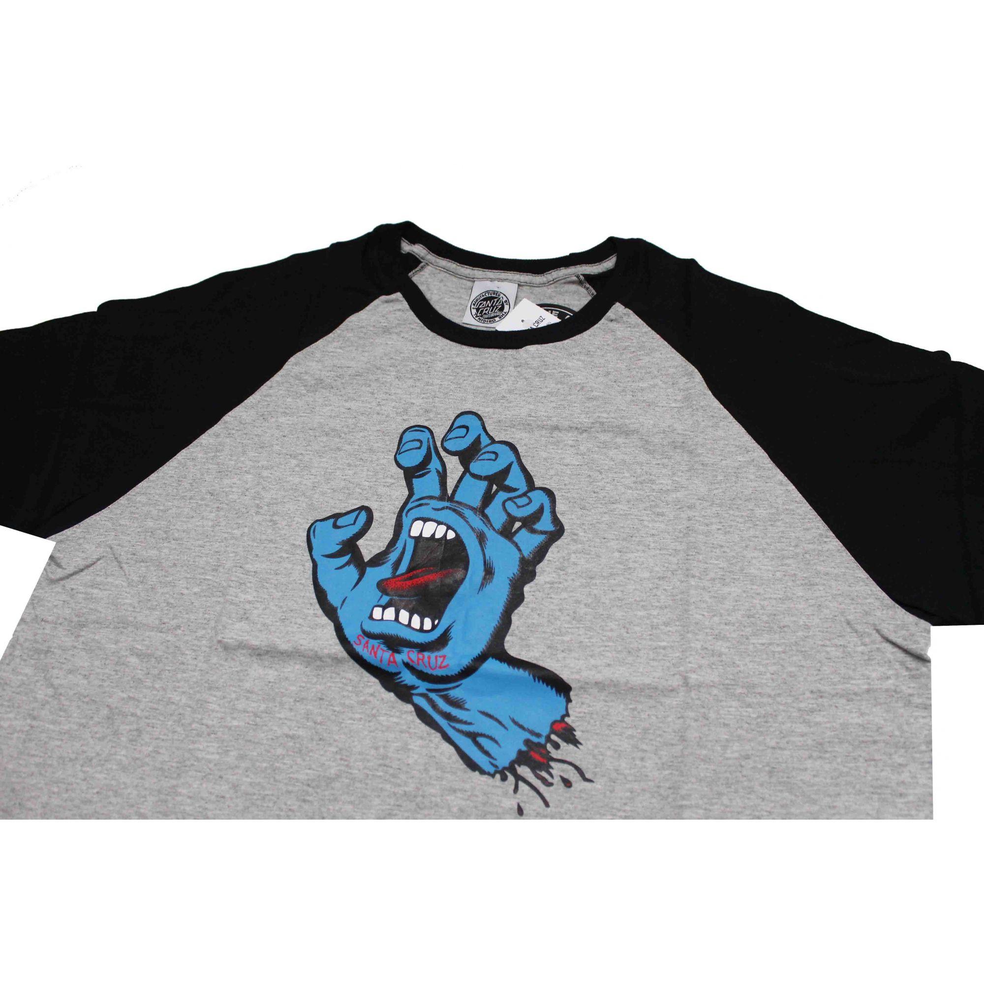 Camiseta Santa Cruz Raglan Screaming Grey/Black