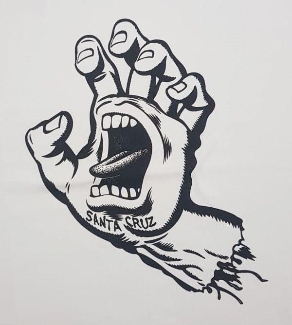 Camiseta Santa Cruz Screaming Hand 1 Color White