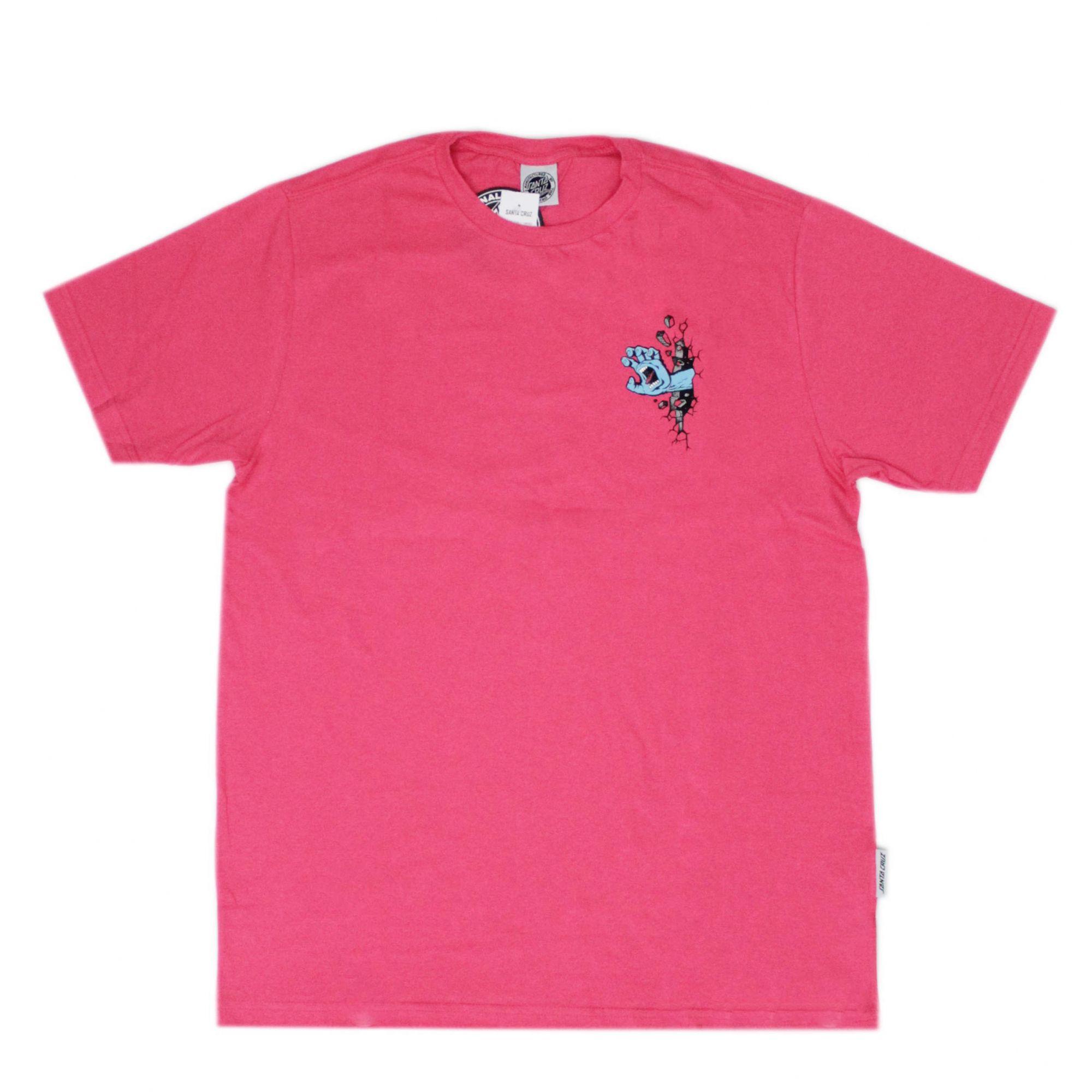 Camiseta Santa Cruz Wall Hand Rosa Pink