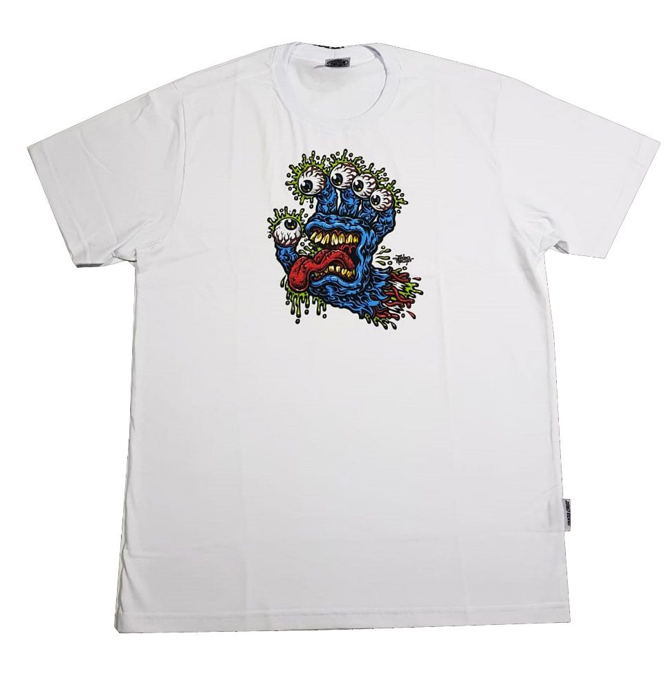 Camiseta Santa Cruz Younth Gnar Hand White