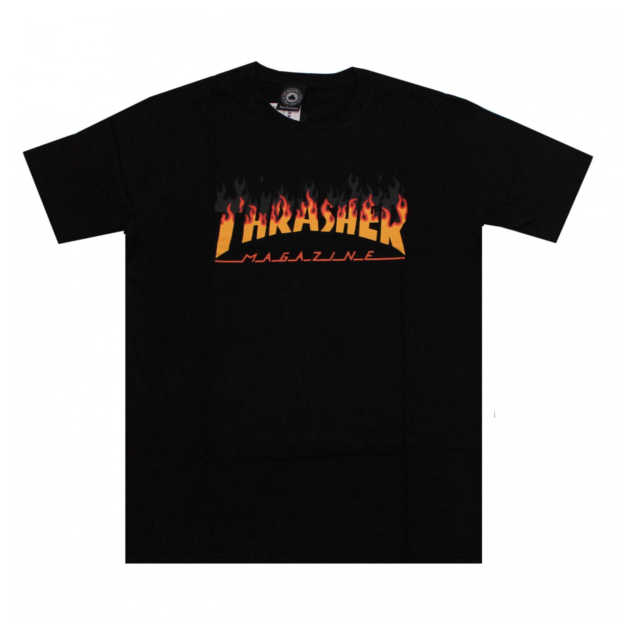 Camiseta Thrasher Magazine BBQ Barbecue Preto