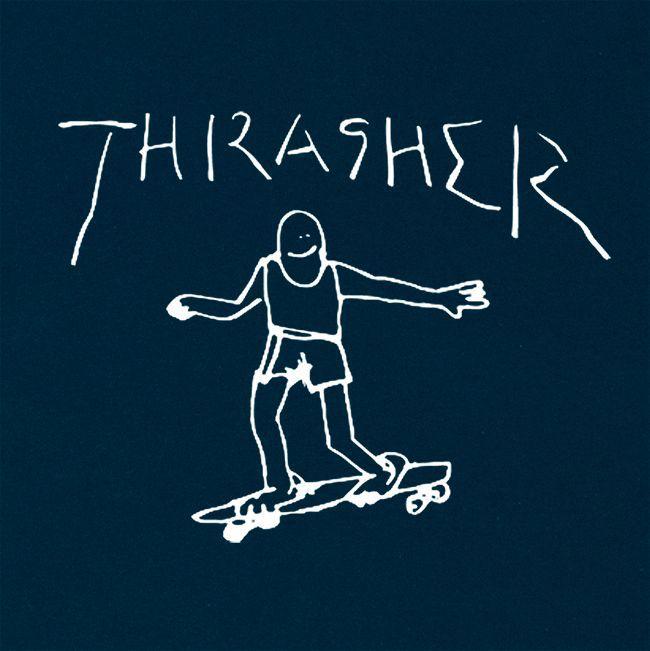 Camiseta Thrasher Magazine By Mark Gonzales Navy Blue