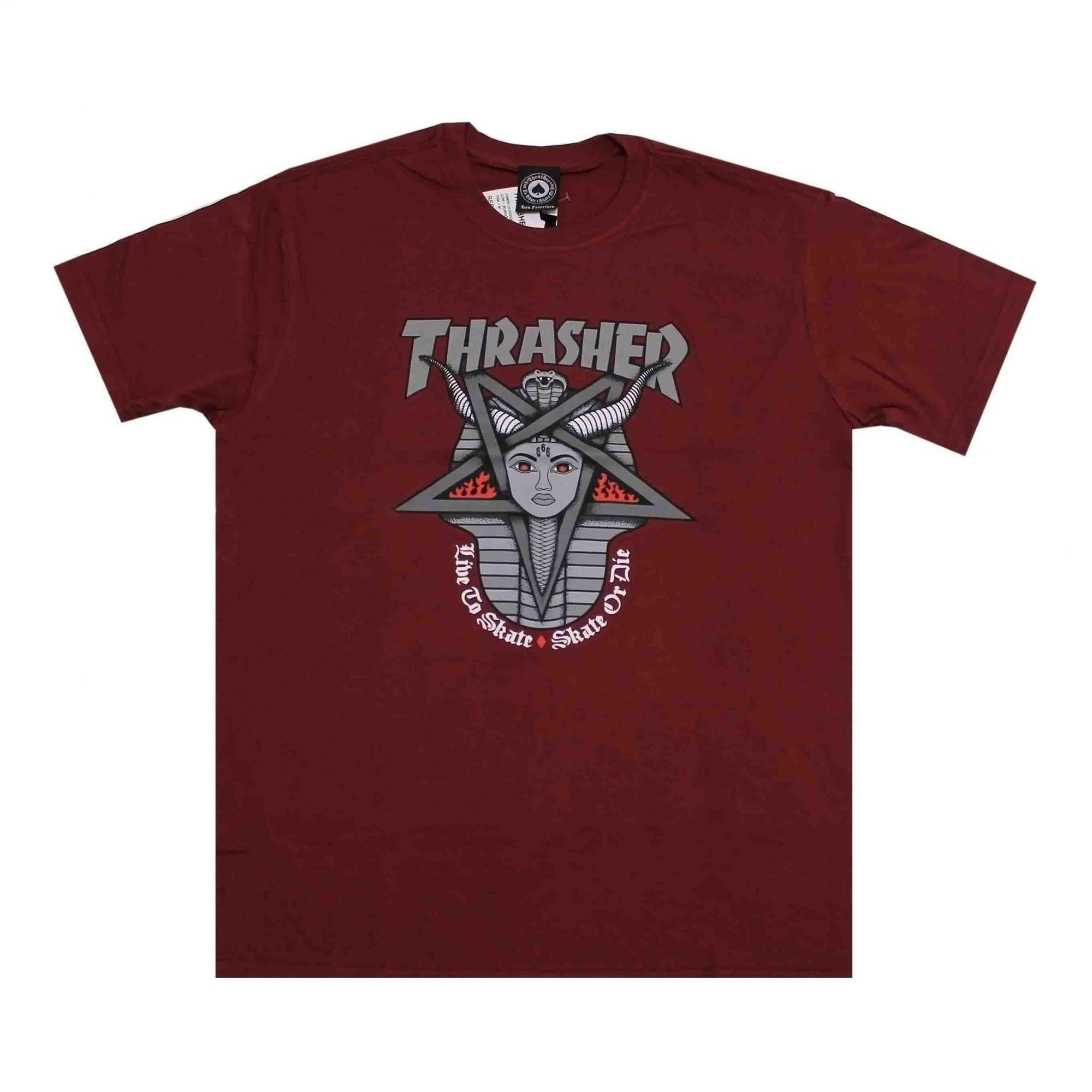 Camiseta Thrasher Magazine Goddess Vinho