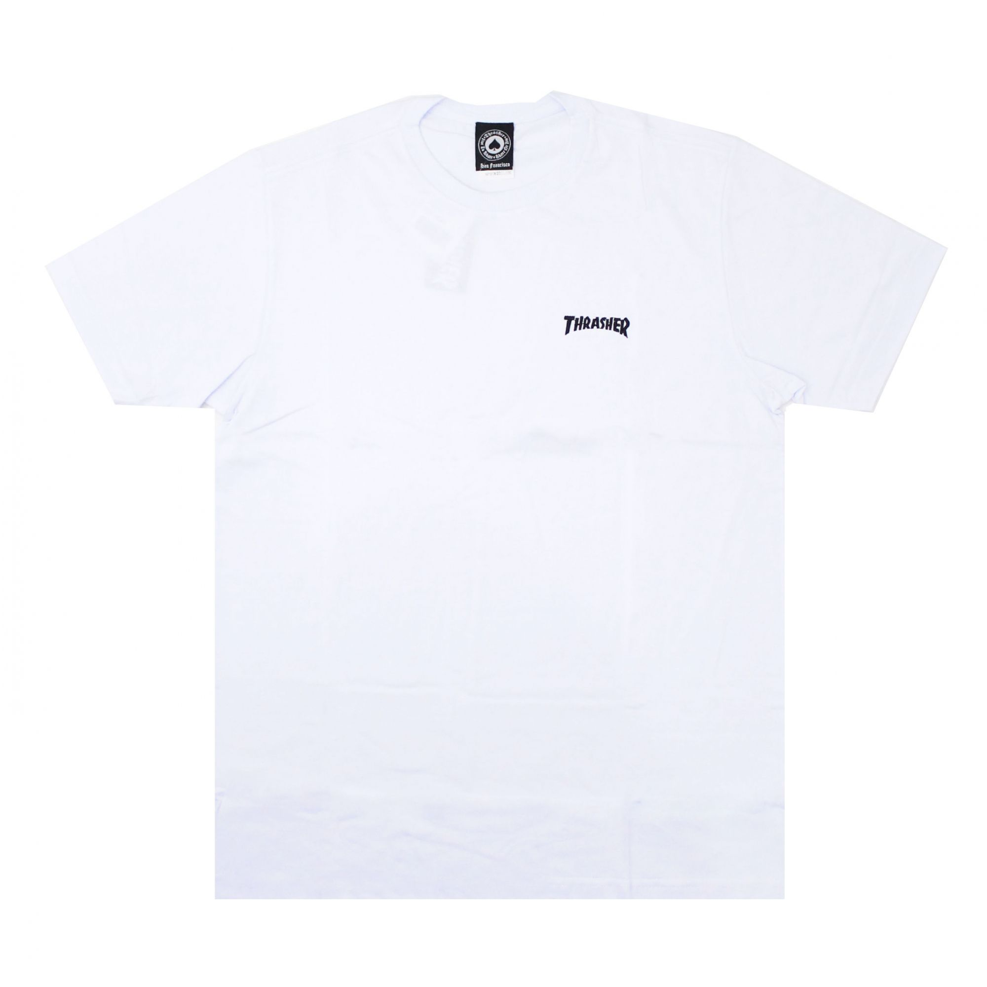 Camiseta Thrasher Magazine Mini Logo Bordado Branco