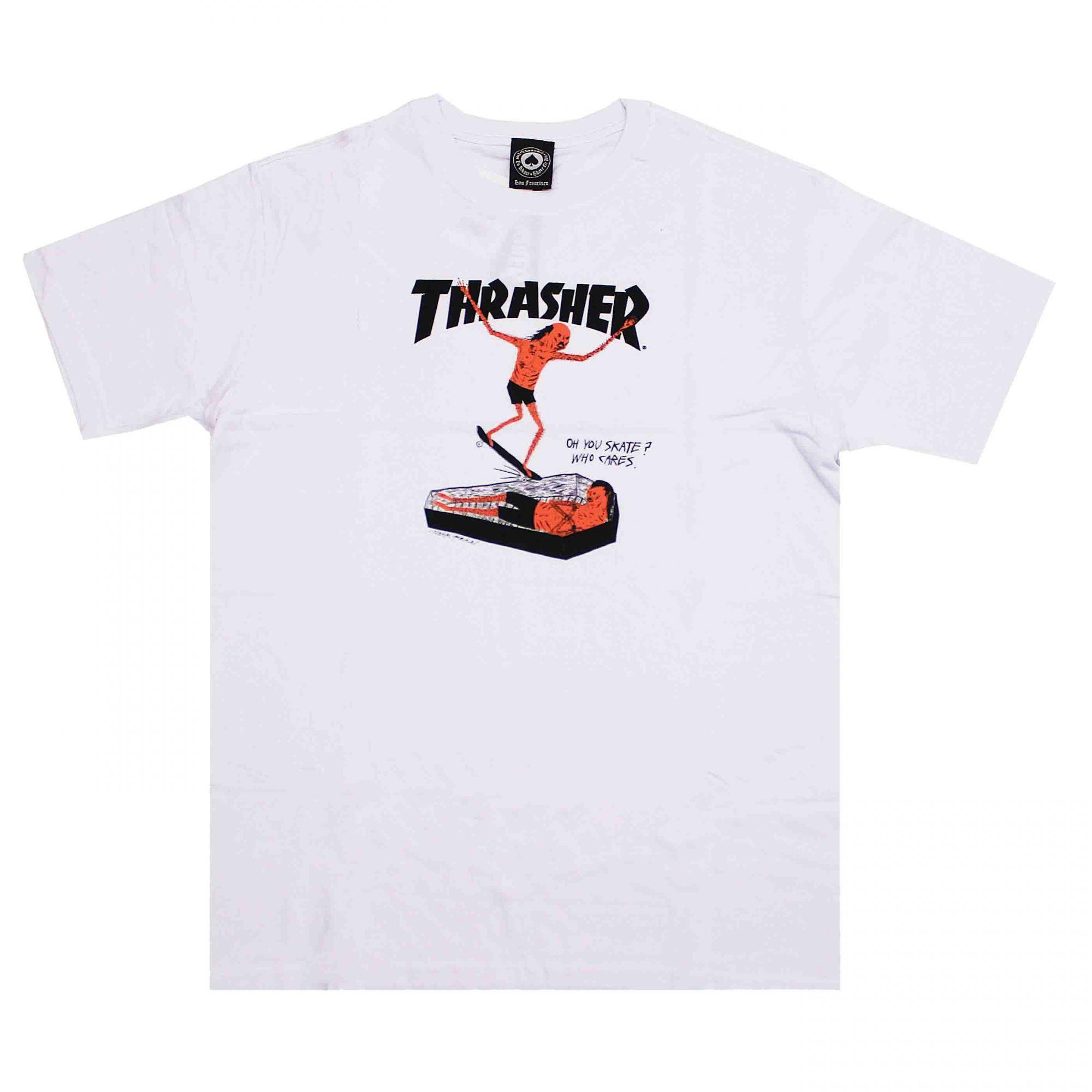 Camiseta Thrasher Magazine Neckface Branco
