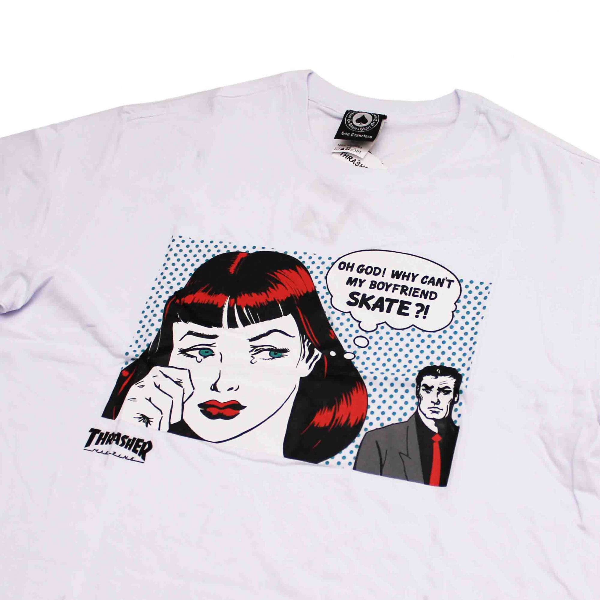 Camiseta Thrasher Magazine New Boyfriend Branco