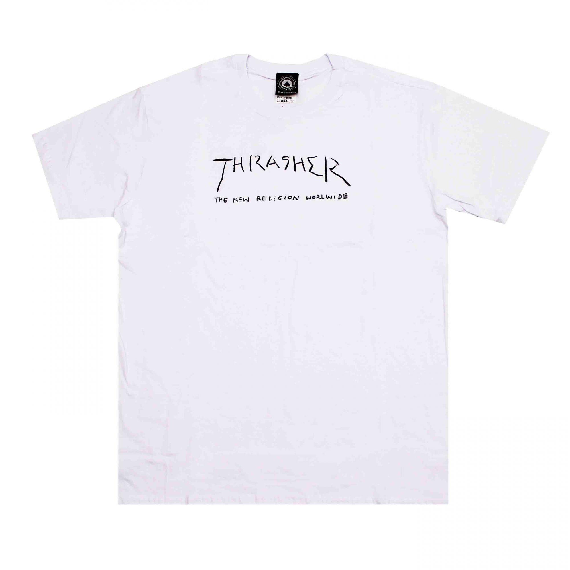 Camiseta Thrasher Magazine New Religion Branco
