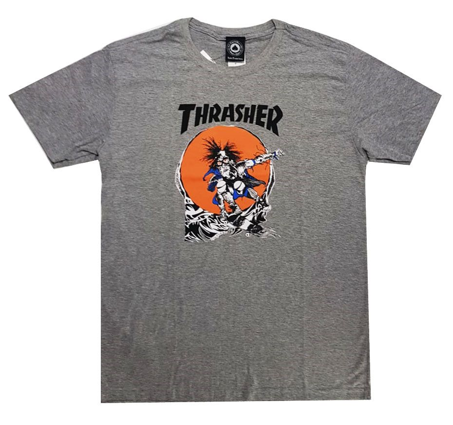Camiseta Thrasher Magazine Outlaw Grey