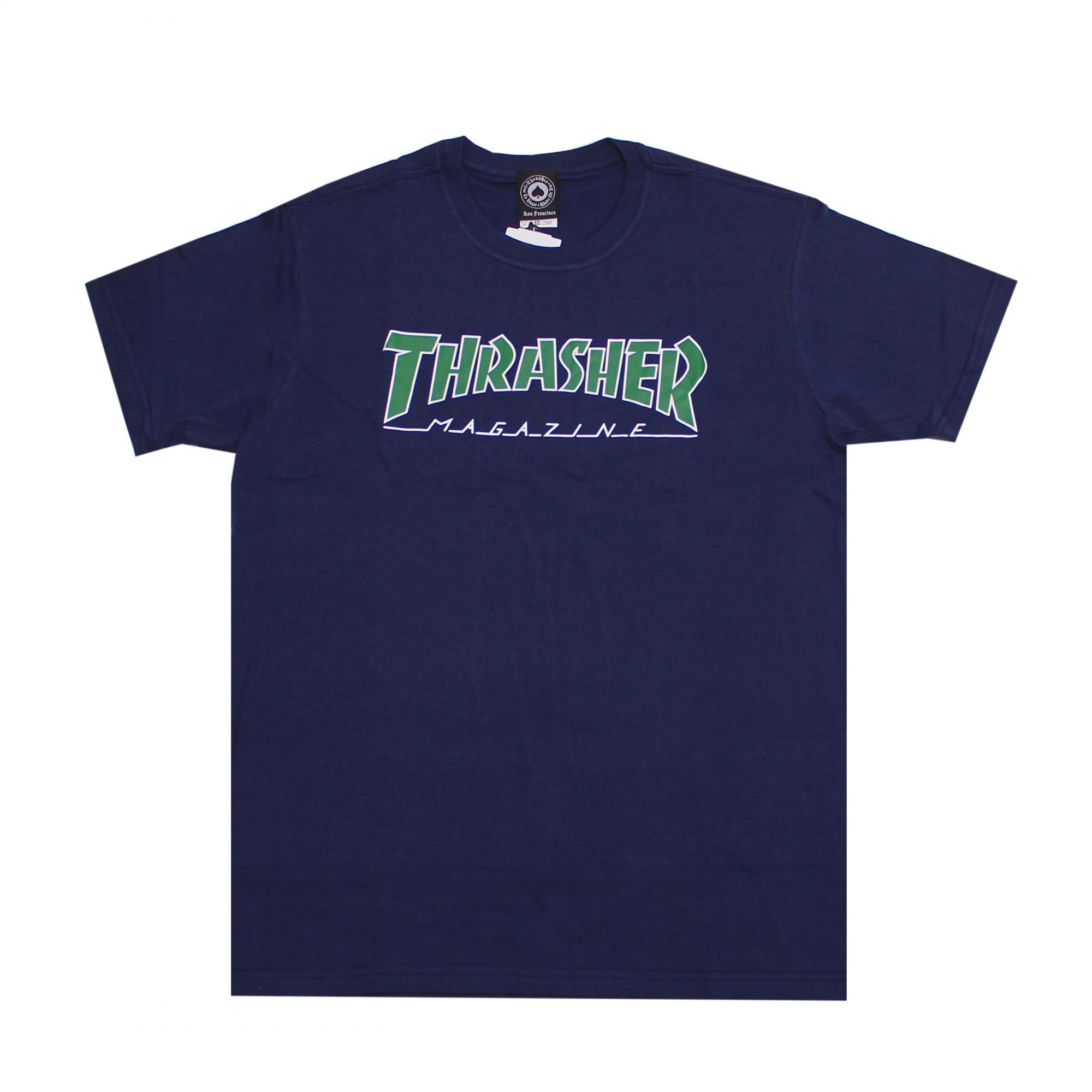 Camiseta Thrasher Magazine Outlined Azul Marinho