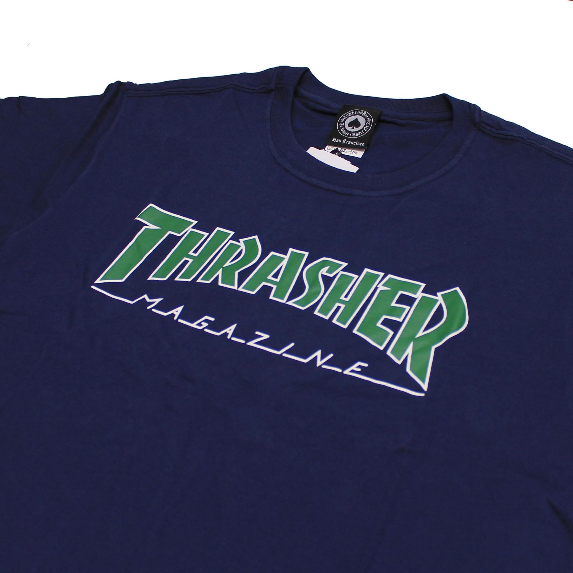 Camiseta Thrasher Magazine Outlined Azul Marinho